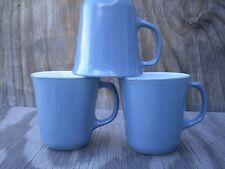 Pyrex Corning Slate Indigo Milk Glass Flared Set Of 3 Cups Mugs