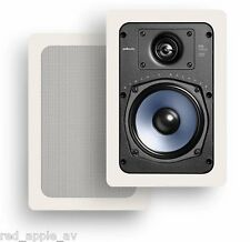 2 x (Pair) Polk RC65i Mid Size In Wall 100w Speakers With White Grills