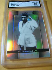 MUHAMMAD ALI 2010 LEAF METAL PRIZM CARD # 57/125 GRADED 10 L@@@K