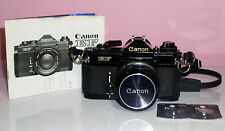 Vintage Canon EF Automatic 35mm SLR Camera Straps, New Batteries Exc Condition