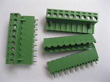 6 pcs 9 pin/way 5.08mm Screw Terminal Block Connector Green Pluggable Type