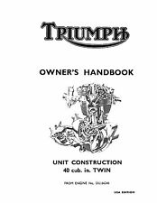 Triumph Owners Manual Book 1968 TR6R, TR6C & T120R Tiger, Trophy & Bonneville
