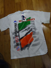 USA World Cup Vintage 1994 IRELAND TEAM mens T-shirt M APEX ONE NWT WHITE IRISH