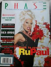 """""""PHASE"""" MAGAZINE RUPAUL COVER APRIL 1994 EXTREMELY RARE ISSUE 2 1990s EX/EX"""