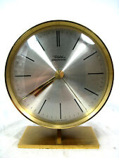 Adjustable 70´s Design table clock DIEHL Tischuhr in working condition  15,5 cm