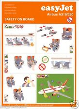 Safety Card - easyJet - A319 A320 - 2009 (S3530)