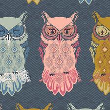 Galería de arte ~ anochecer pájaro de la noche pizarra Tela/Acolchar confección con dibujo de búho