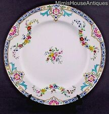 "12 - 10.25"" DINNER PLATES - antique MINTON B917 - Raised Enamel Floral  c.1917"