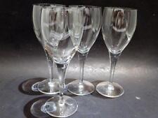 4 Wine Glasses Light & Music Luigi Bormioli Crystal Original Stickers ITAY