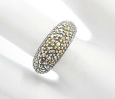 Judith Jack Sterling Silver Marcasite Band Ring Sz 6.25  #1972
