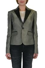 Dsquared2 Sparkling Gray One Button Tuxedo Style Women's Blazer US L IT 44