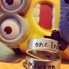 one in a minion  aluminum twist ring the original google eyes inside