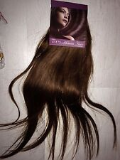 "#6 Thick Deluxe 20"" Clip In Remy 100% Human Hair Extensions Full Head chestnut"