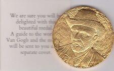 Yellow base metal musée van gogh d'amsterdam médaille avec certificat