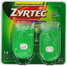 Zyrtec Allergy 24 hour relieft - 14 tablets - 10 mgs - Cetirizine HCL Tablet