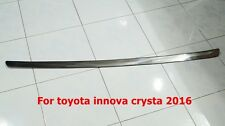 TOYOTA INNOVA CRYSTA 2015 CHROME OUT SIDE TAILGATE STEP GUARD SIZE 107 X 4 cm