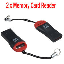 2PCS HIGH SPEED MEMORY CARD READER TO USB 2.0 ADAPTER FOR MICRO SD CARD SDHC TF