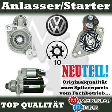 VW CADDY GOLF JETTA AUDI A3 SEAT ALTEA SKODA YETI ANLASSER STARTER NEU NEW !!!