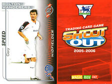 SHOOT OUT FOOTBALL CARD 2005 - 2006 BOLTON WANDERERS GARY SPEED