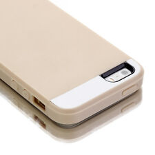 for Apple iPhone 5 5S SE Hard&Soft Rugged Rubber Protective Case Cover Skin Gold