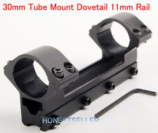 See Thru 30mm Double Ring 11mm Rail 120mm Dovetail Mount For Scope Laser Torch