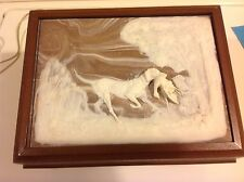 vintage phone in box w/ hunting dog on top , DECO-TEL ,GTE