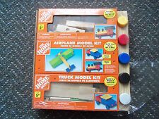 HOME DEPOT Train ,Airplane, and Truck Model Kit New