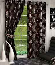 Elegance Readymade Designer Brown Abstract Polyester 1 Long Door Curtain