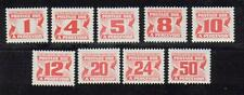 """1977-79 SC# j28a-j40 Centennial Postage Dues """"Fourth Issue"""" set of 9 Lot390 M-NH"""