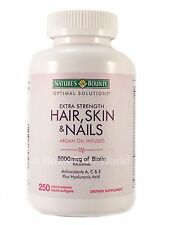 Hair Skin and Nails Nature's Bounty Vitamin 5000 mcg of Biotin 250 Tablets * NEW