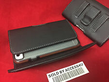 BLACK LEATHER CASE HOLSTER BELT CLIP POUCH FOR IPHONE 4 4S slim BUMPER GEL COVER