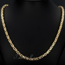 """New 5MM MENS Boys Chain Stainless Steel Byzantine Box Link Necklace 18""""-36inch"""