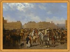 Old Smithfield Market Jacques-Laurent Agasse England London Pferde B A1 02344