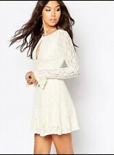 FREE PEOPLE NWOT, TEEN WITCH FIT & FLARE LACE DRESS IN Ivory Sz 0 Xs $128.00