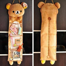 FD4300 Home Decor 3 Pockets Rilakkuma Relax Bear Wall Hanging Storage Bags