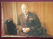 POSTCARD WWII GENERAL DWIGHT D ELSENHOWER