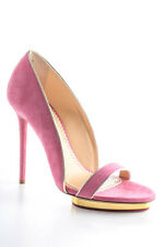 Charlotte Olympia Pink Christine 125 Suede Stiletto Pumps Size 36 6 New In Box