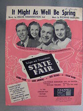 Rare Vintage Sheet Music - It Might As Well Be Spring - State Fair 1945