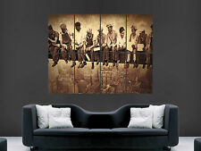 NEW YORK CONSTRUCTION WORKERS ICONIC VINTAGE GIANT WALL POSTER ART PRINT LARGE