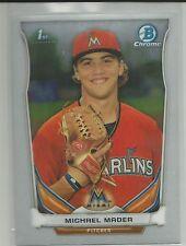 Michael Mader Miami Marlins 2014 Bowman Chrome Draft Card
