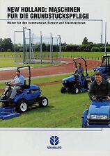 Prospekt New Holland Maschinen Grundstückspflege 3/01 2001 Kleintraktoren Mäher