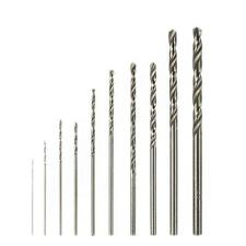 10 Piece HSS Drill Bit Set Stainless Steel Metal Sheet For Rotary Tool AD