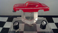 1969 CHEVY Chevelle Yenko S/C Red  T-JET New Ho Scale Slot Car Body/WHEEL Kit