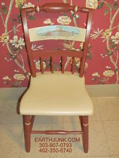 Round Barn Whimsical Hand Painted Sturdy Chair Alexander the Great Restorer