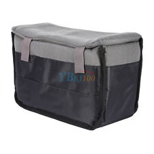 DSLR Camera Insert Partition Soft Black Inner Padded Protective Case Bag