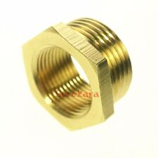"LOT 5 Brass Reducer 1/4"" BSP Male to 1/8"" BSP Female Reducing Bush Pipe Fitting"
