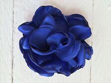 Seda Azul Flor Cabello Clip Flores Niña Dama De Honor Boda Graduación razas Fascinator de la
