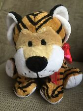 Tesco Tiger Soft Toy With Red Heart Ribbon