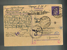 1943 Verzuolo Italy Postcard Cover to Germany karl Pappenheim