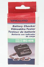 Vanguard BC-406 Videoakku-Tester für Canon, Sony, JVC, Panasonic 6V Akkus NEU!